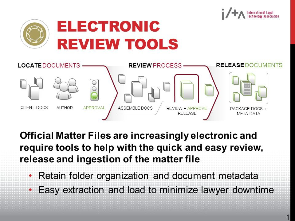 Electronic Review Tools