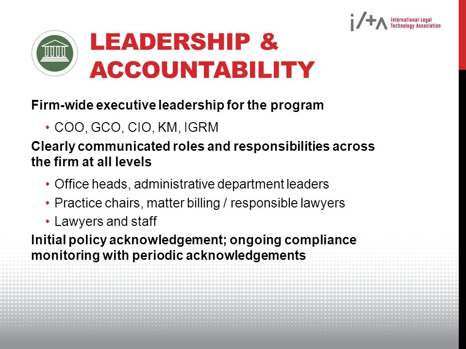 Leadership & Accountability