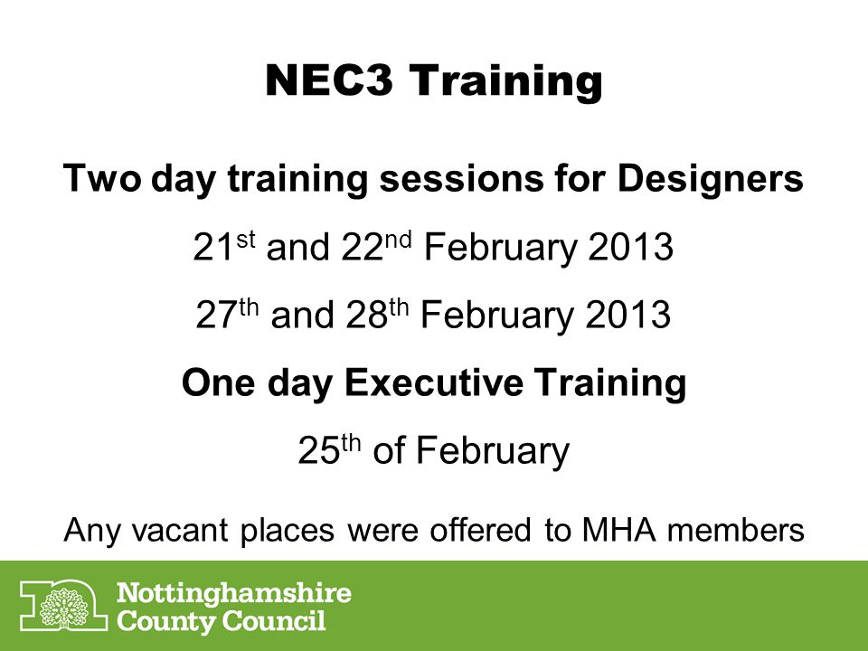 Two day training sessions for Designers One day Executive Training