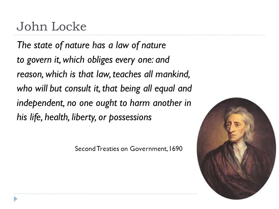Locke S View Of Man S Nature And The State Of Nature
