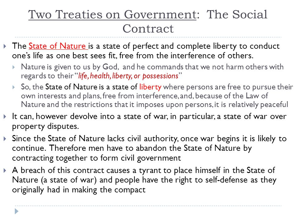 Two Treaties on Government: The Social Contract