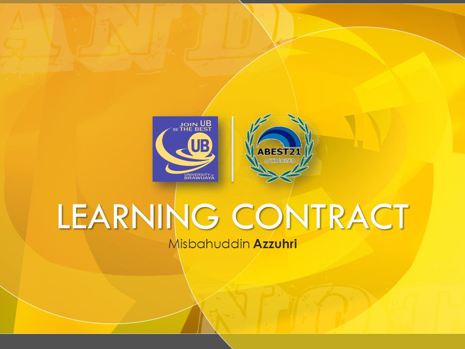 LEARNING CONTRACT Misbahuddin Azzuhri