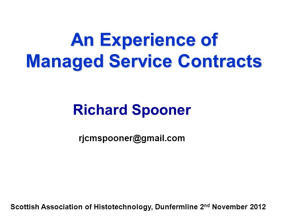 Managed Service Contracts