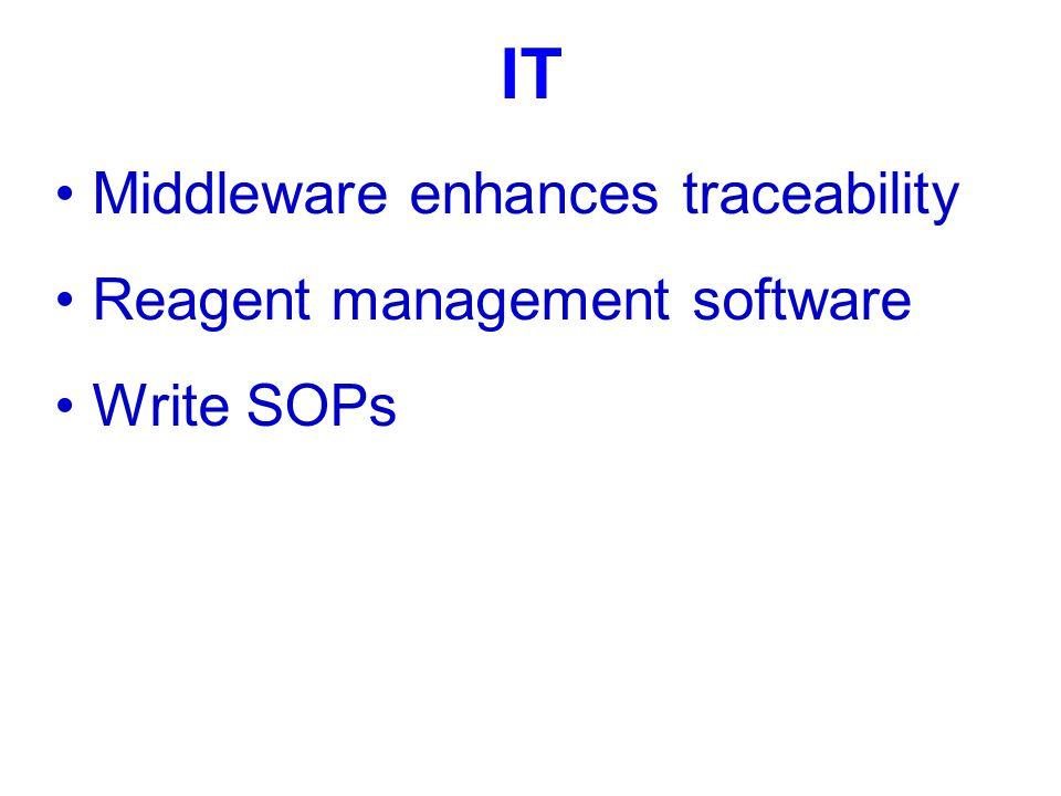 IT Middleware enhances traceability Reagent management software