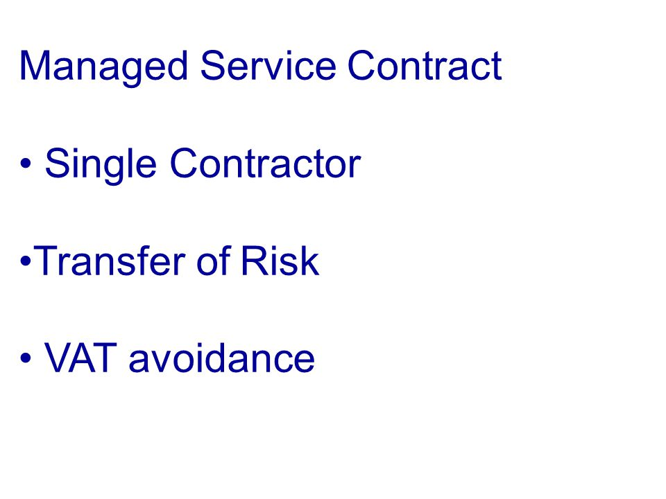 Managed Service Contract