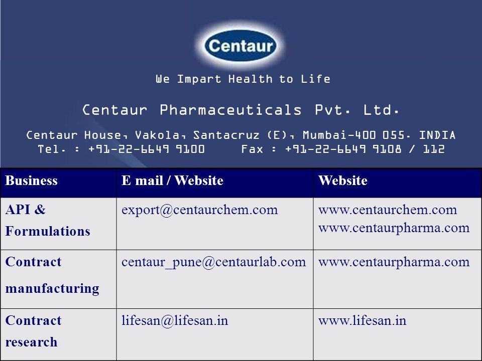 Centaur Pharmaceuticals Pvt. Ltd.