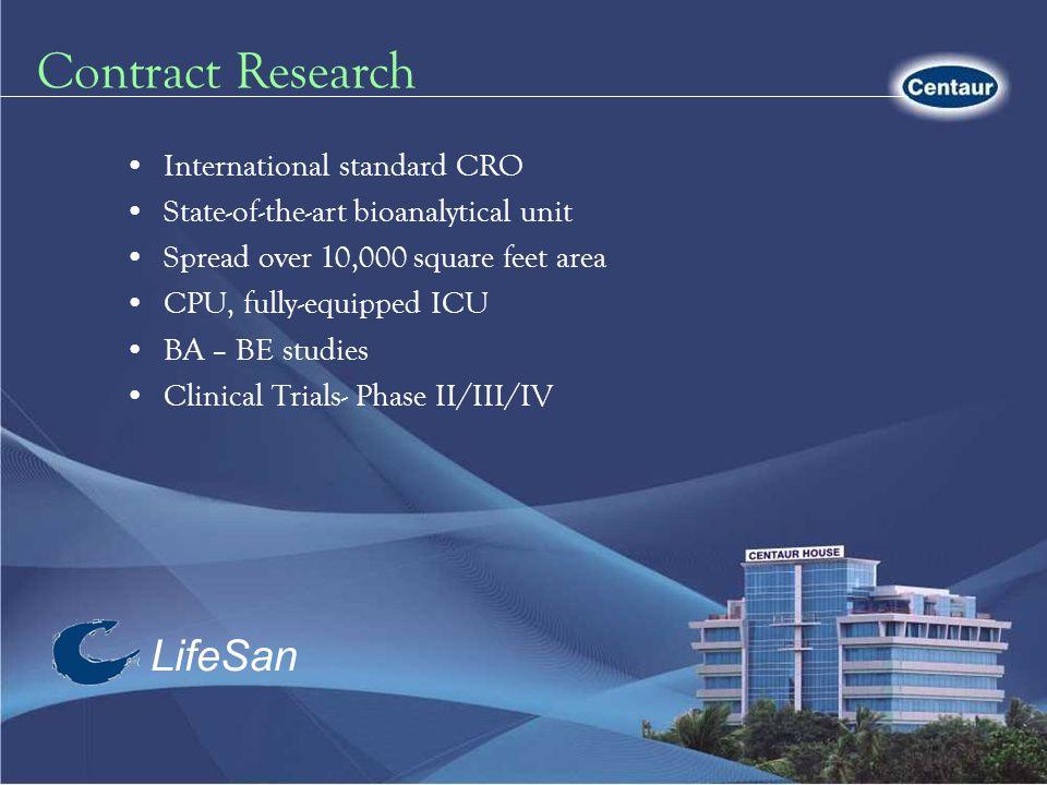 Contract Research LifeSan International standard CRO