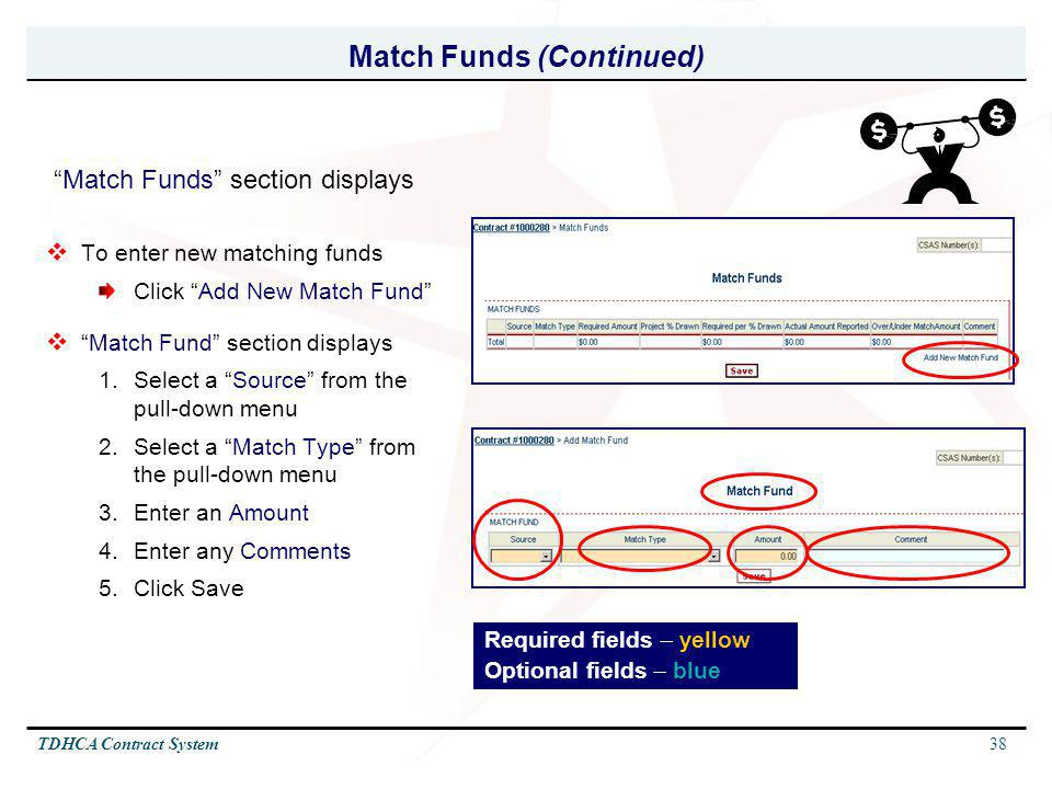 Match Funds (Continued)
