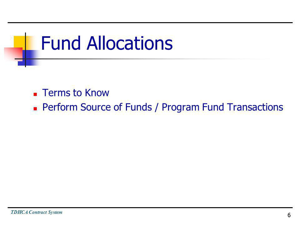 Fund Allocations Terms to Know