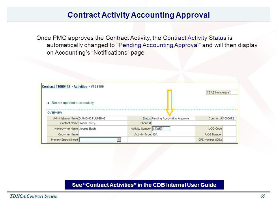 Contract Activity Accounting Approval