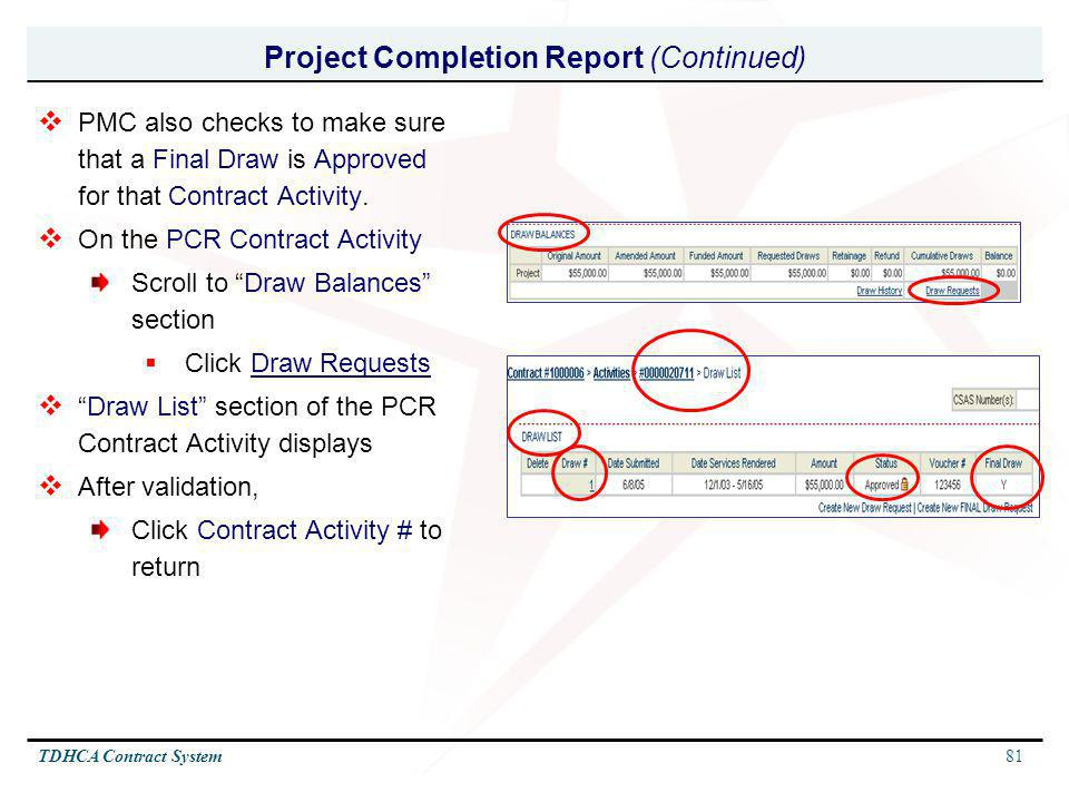 Project Completion Report (Continued)