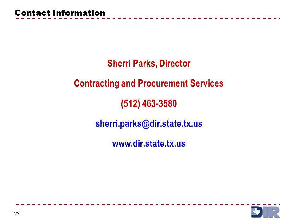 Contracting and Procurement Services