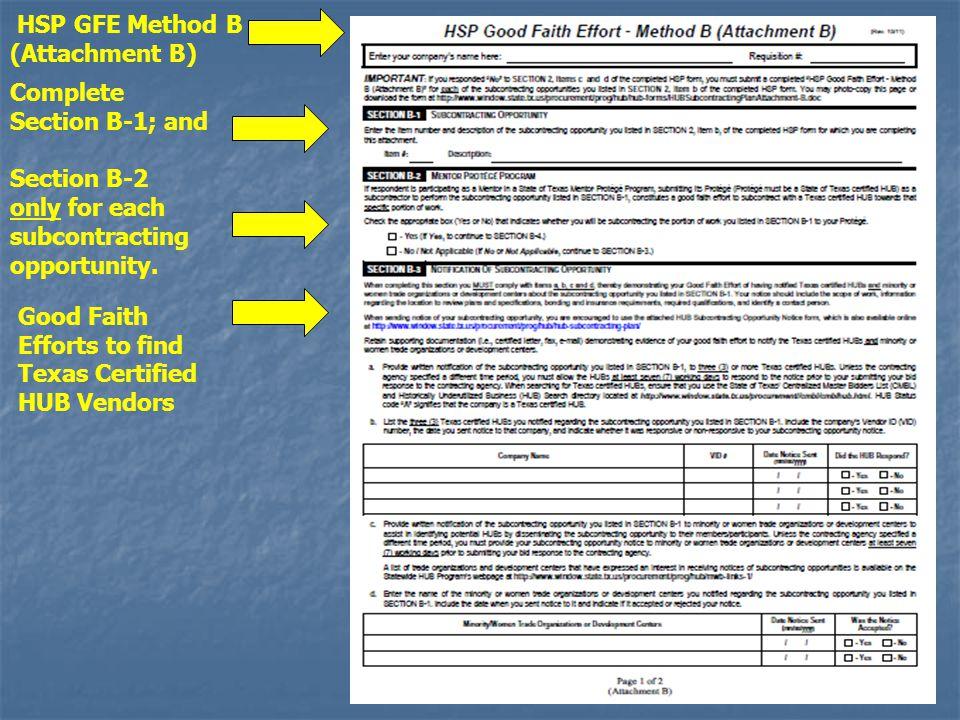 HSP GFE Method B (Attachment B)