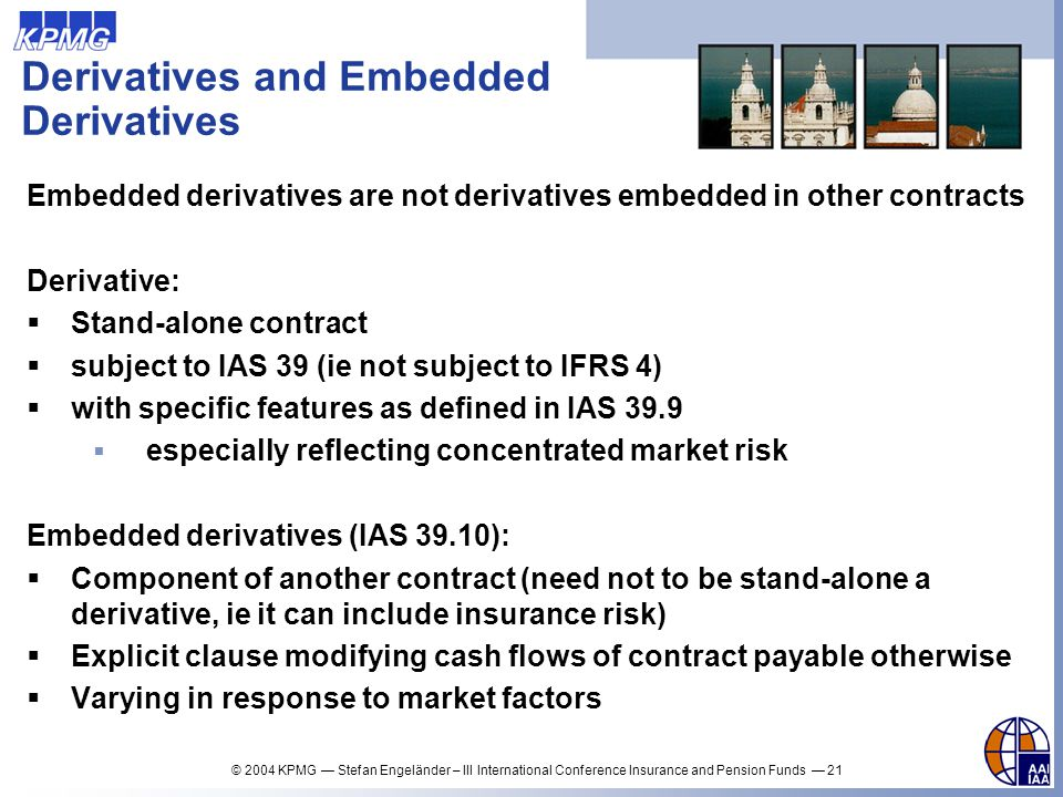 Derivatives and Embedded Derivatives