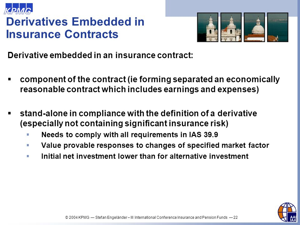 Derivatives Embedded in Insurance Contracts