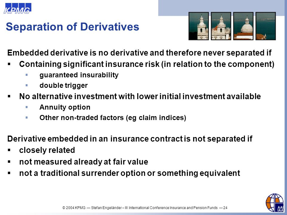 Separation of Derivatives