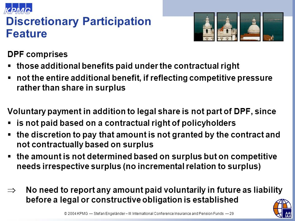 Discretionary Participation Feature