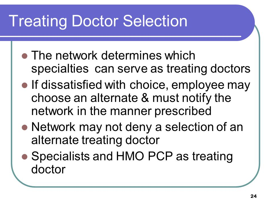 Treating Doctor Selection