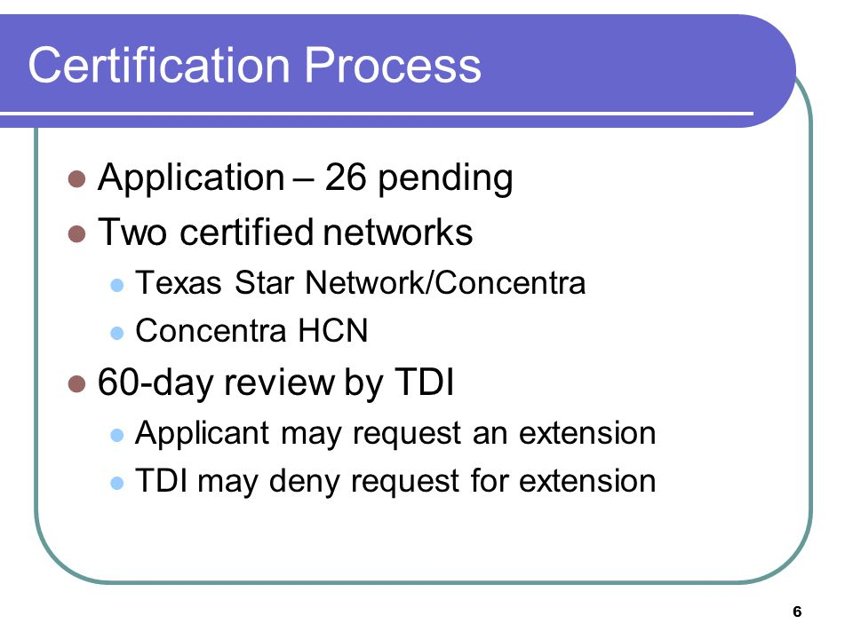 Certification Process
