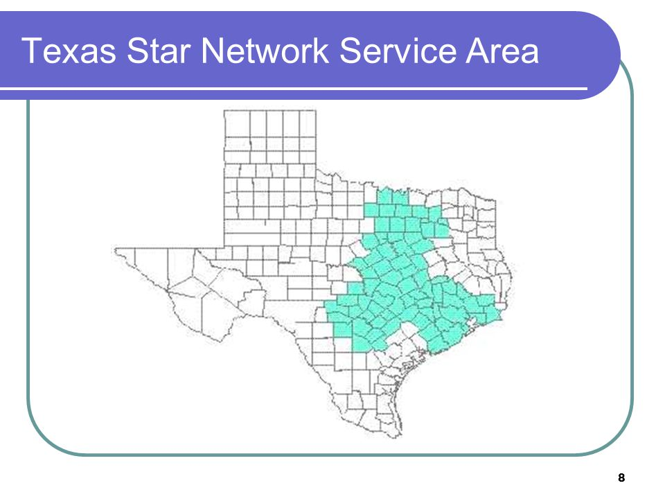 Texas Star Network Service Area