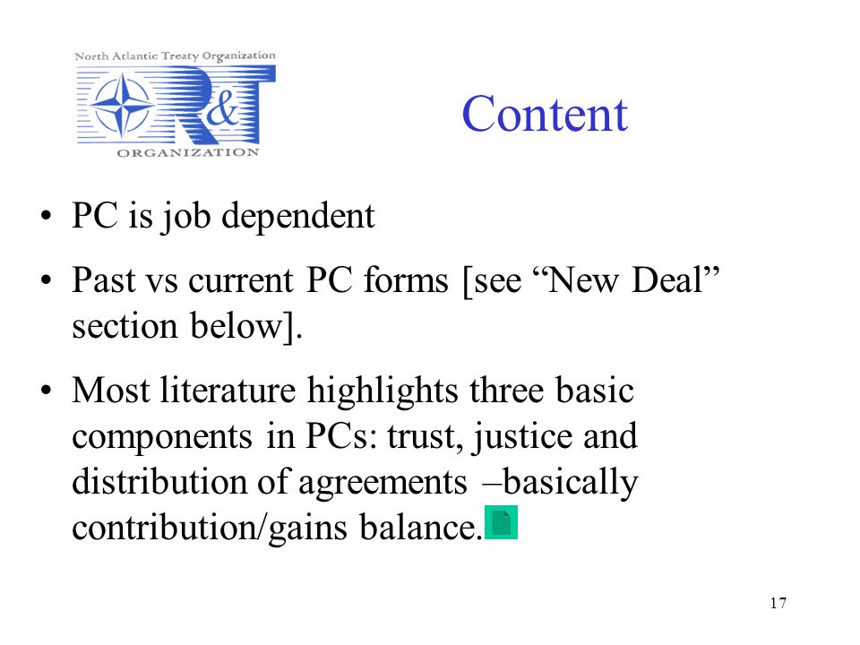 Content PC is job dependent