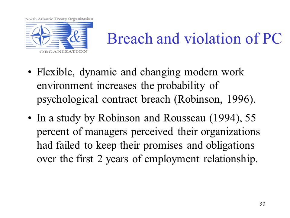 Breach and violation of PC