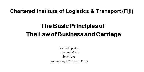 Chartered Institute of Logistics & Transport (Fiji)