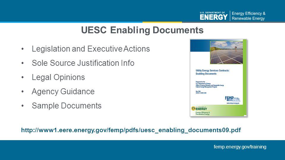 UESC Enabling Documents