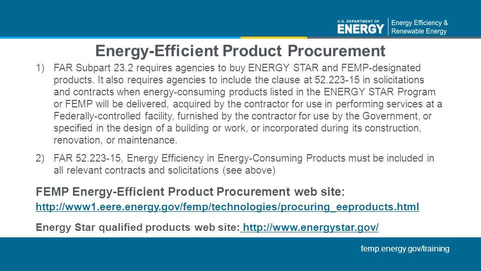 Energy-Efficient Product Procurement