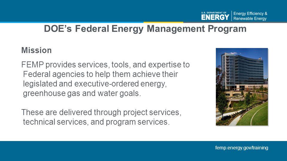 DOE's Federal Energy Management Program