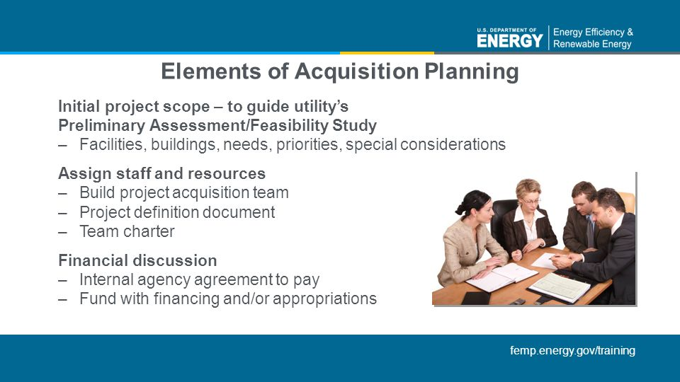 Elements of Acquisition Planning
