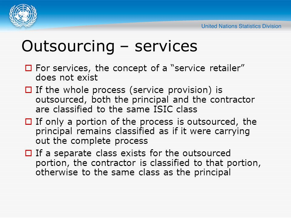 Outsourcing – services