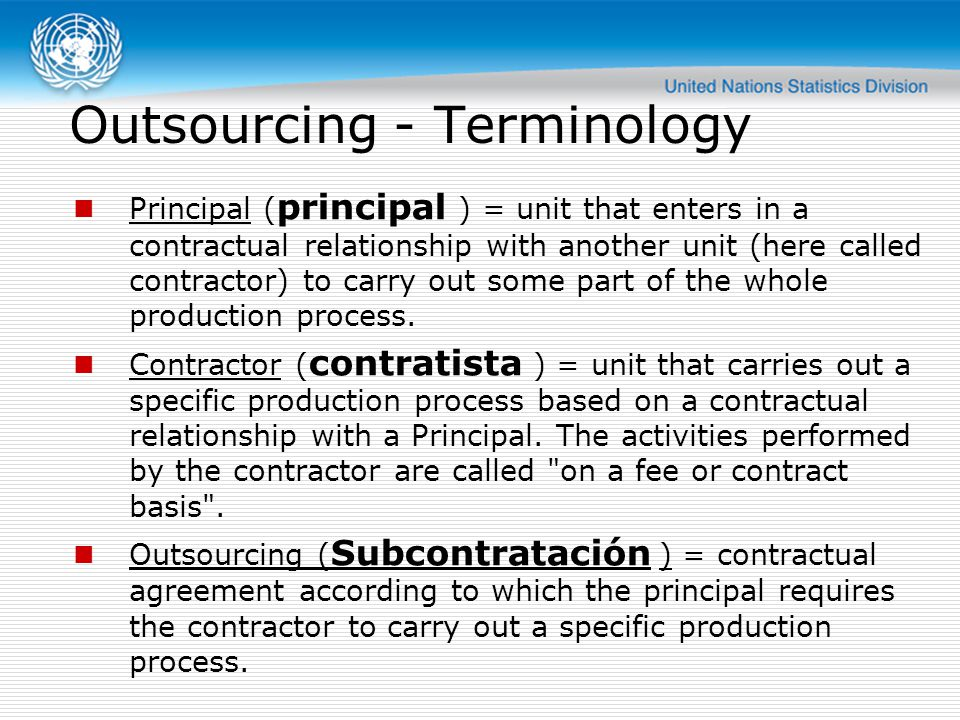 Outsourcing - Terminology