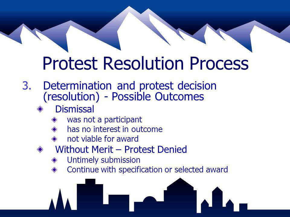 Protest Resolution Process