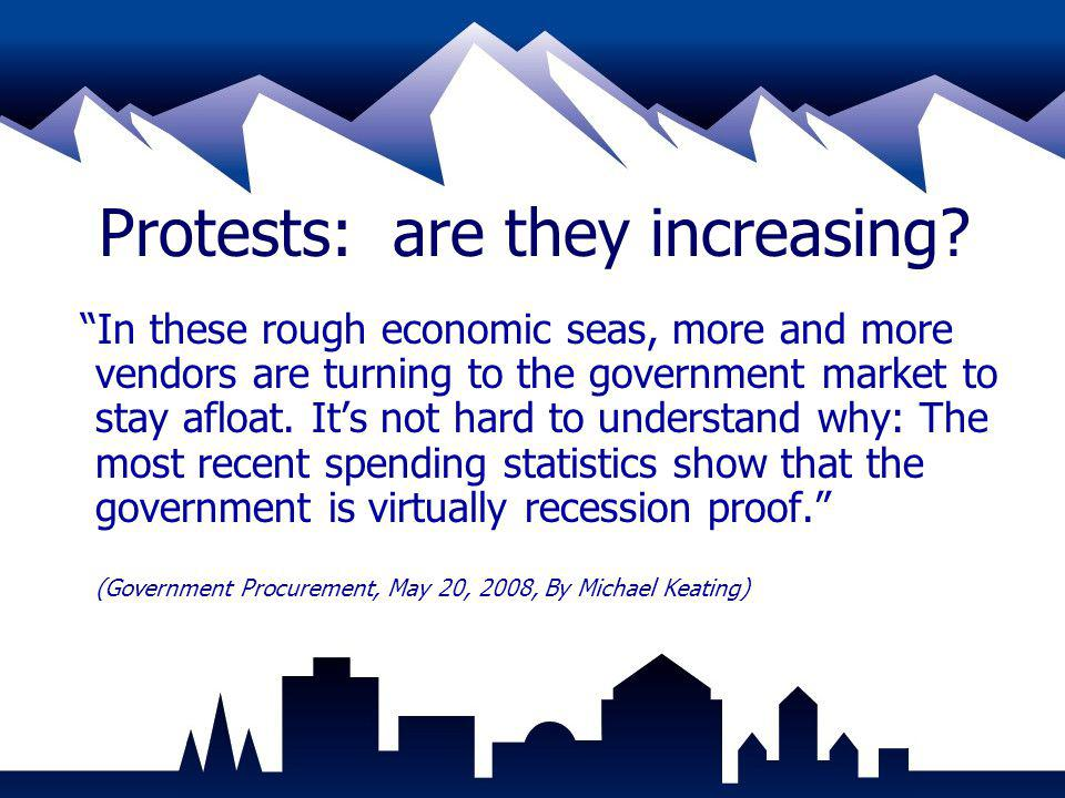 Protests: are they increasing