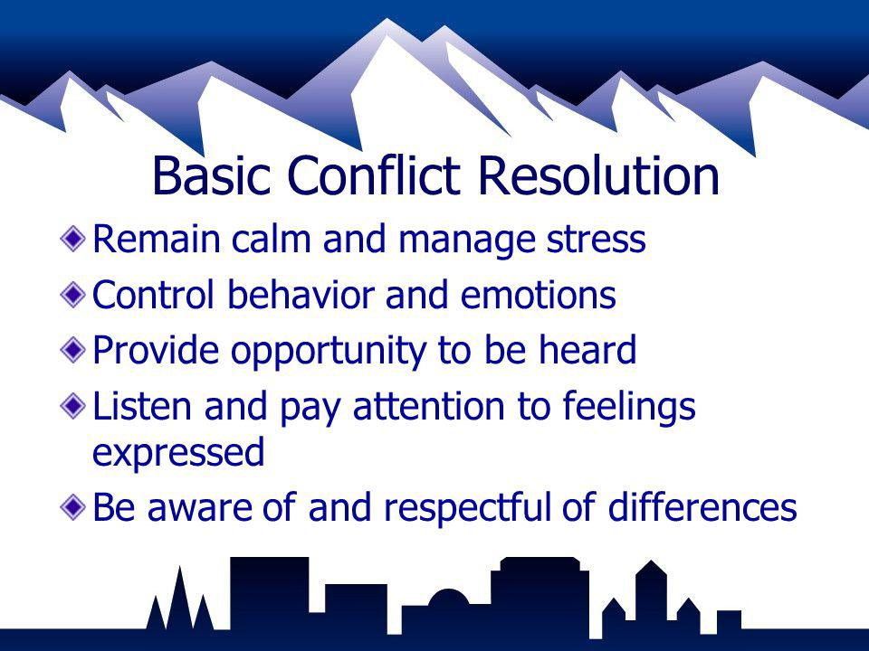 Basic Conflict Resolution