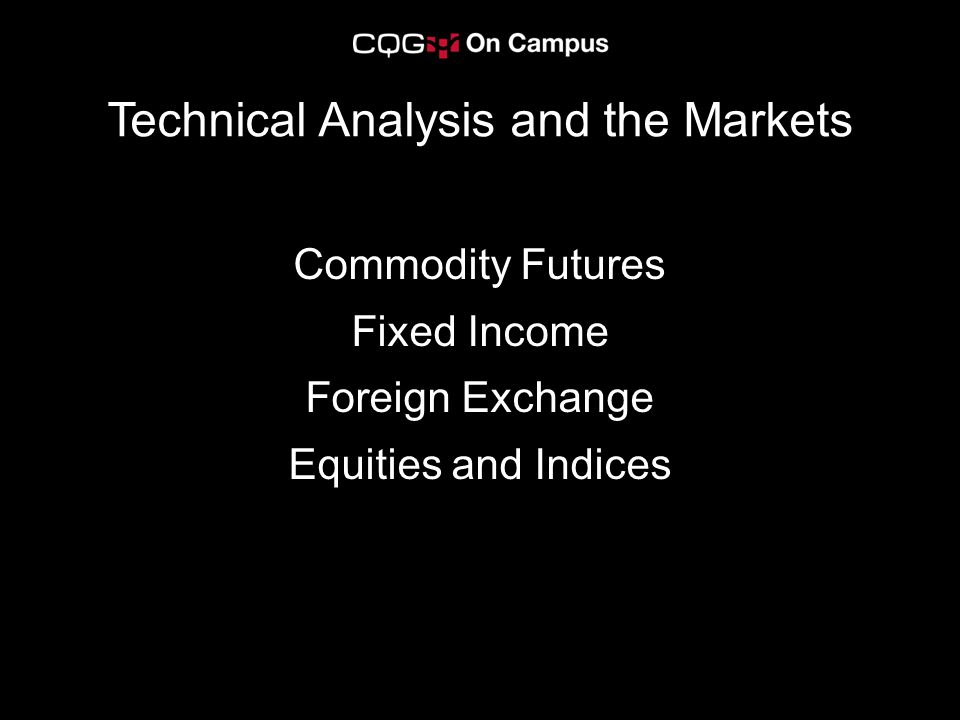 Technical Analysis and the Markets
