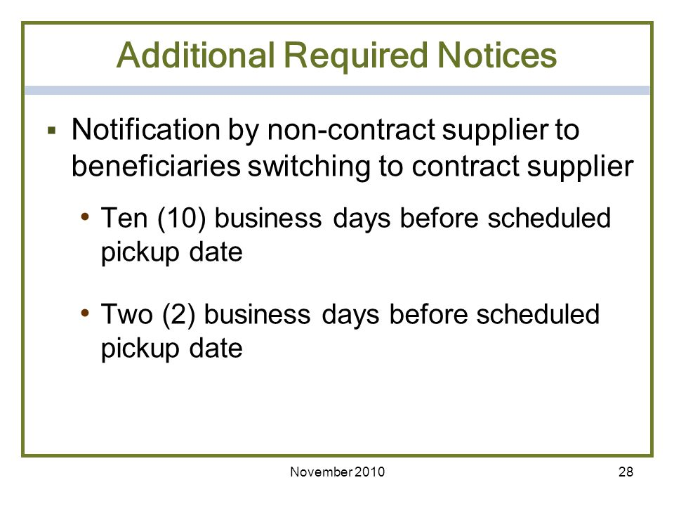 Additional Required Notices