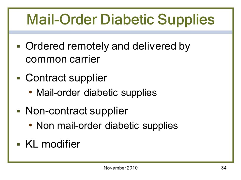 Mail-Order Diabetic Supplies