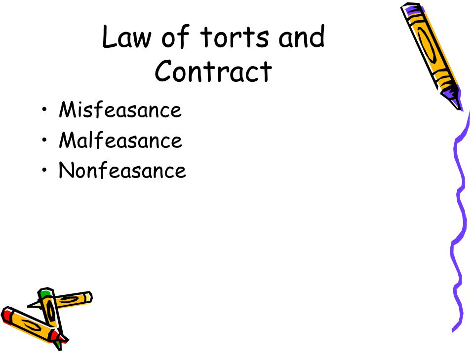 Law of torts and Contract