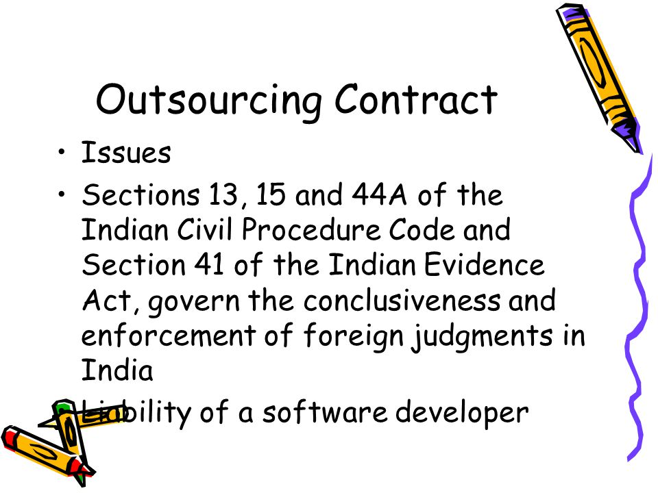 Outsourcing Contract Issues