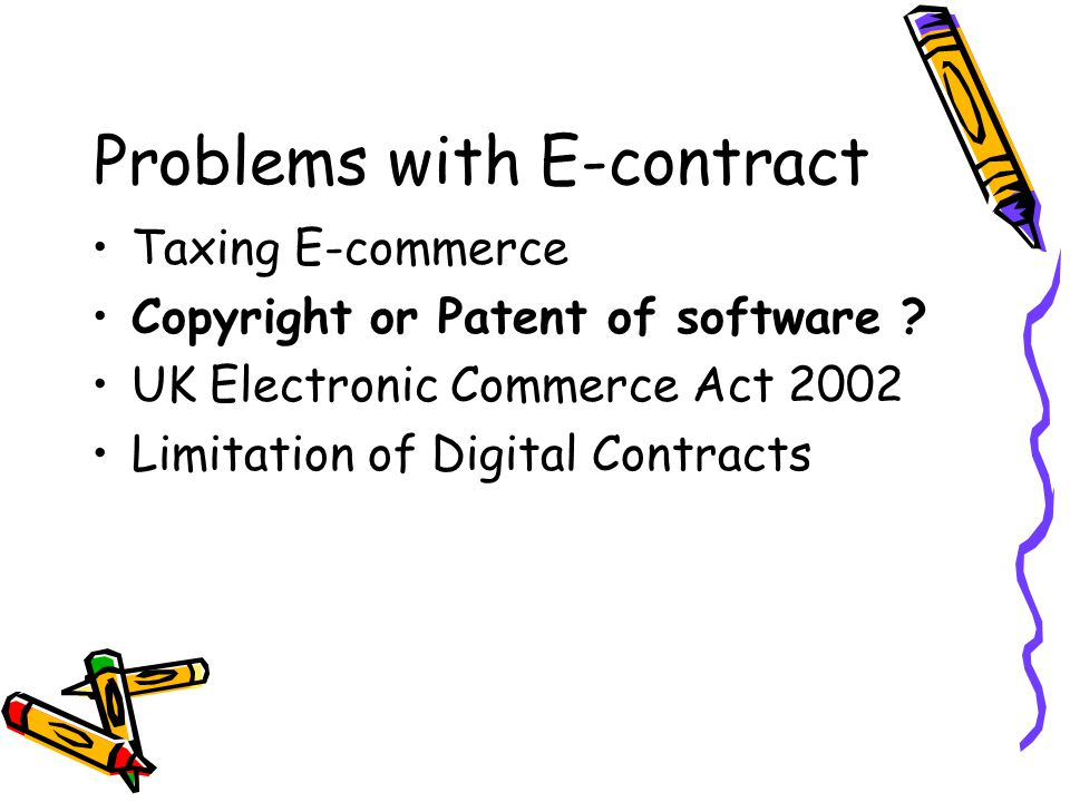 Problems with E-contract