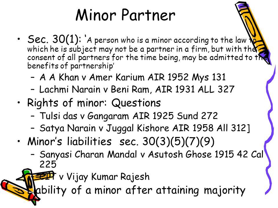 Minor Partner