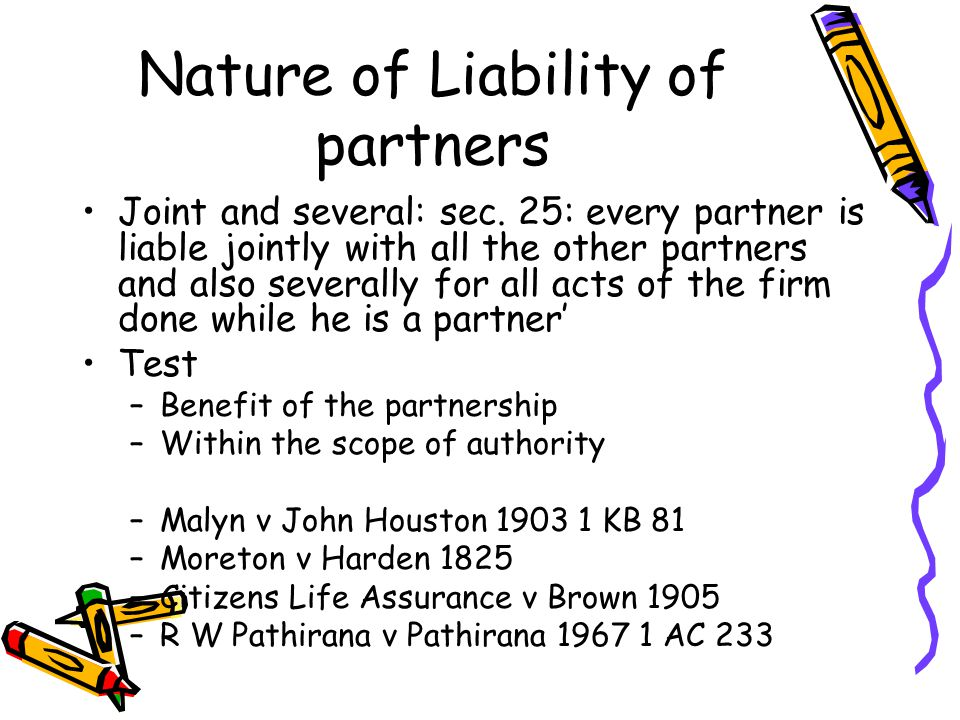 Nature of Liability of partners