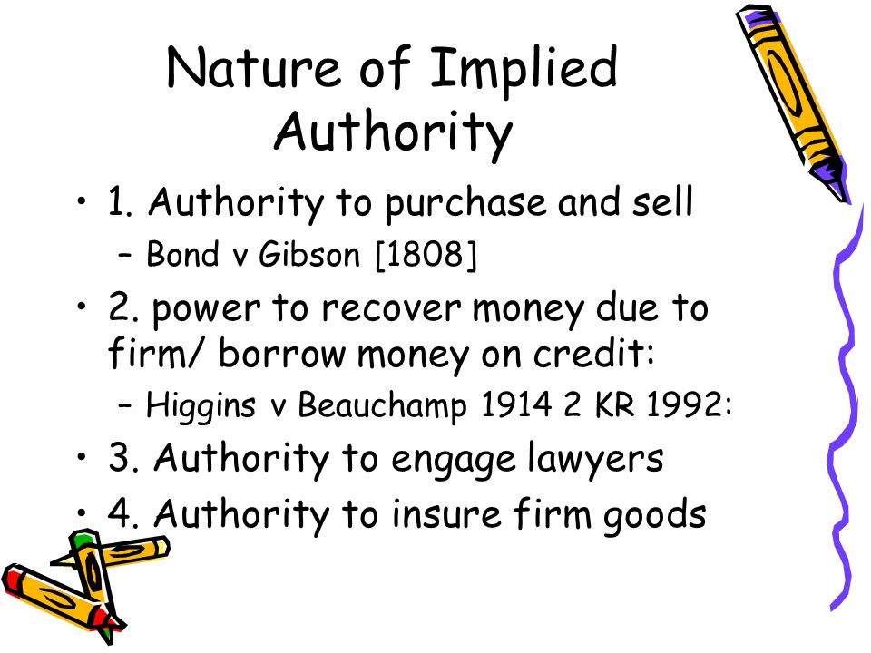 Nature of Implied Authority
