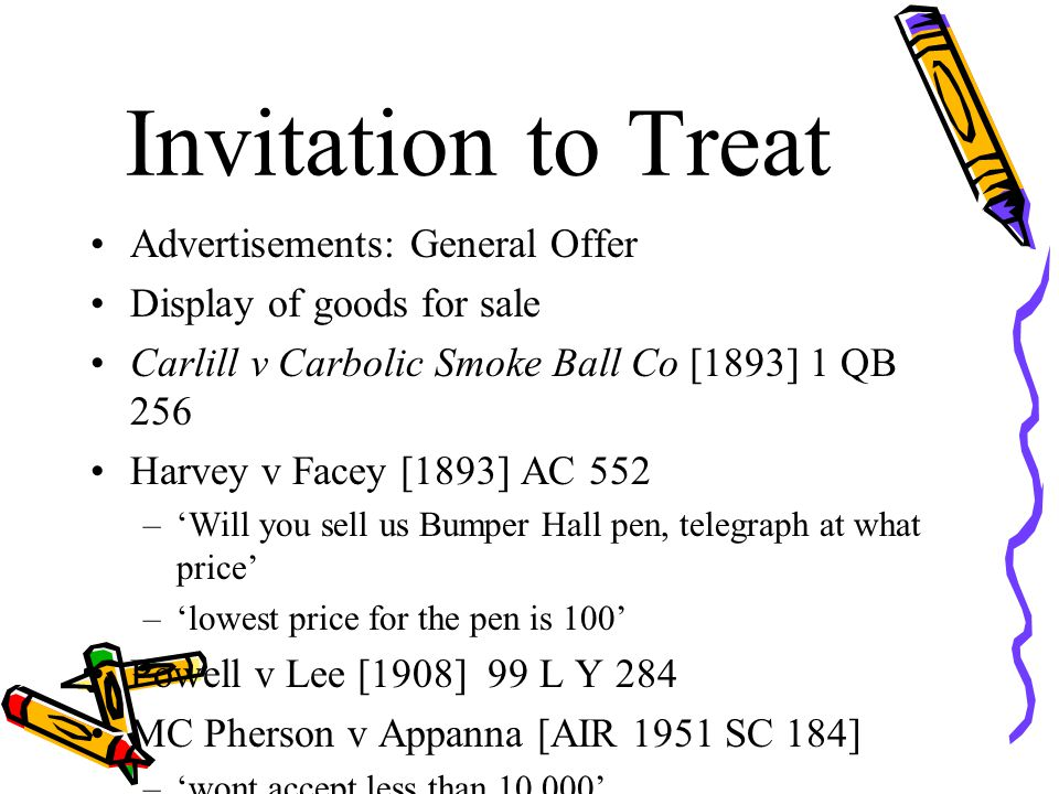 Invitation to Treat Advertisements: General Offer