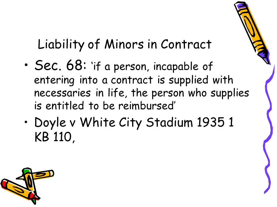 Liability of Minors in Contract