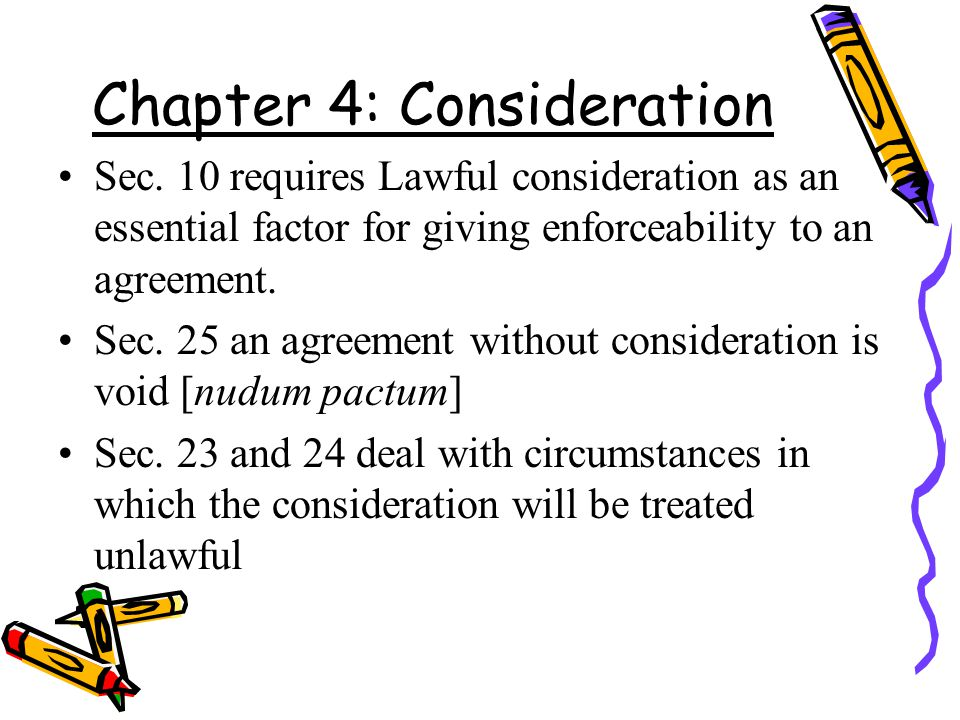 Chapter 4: Consideration