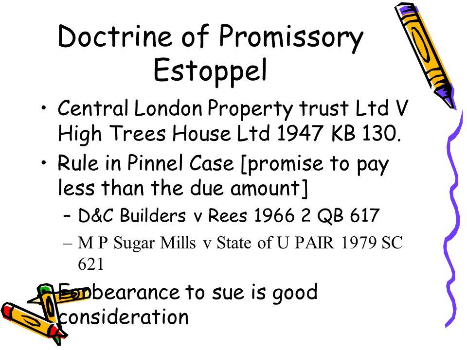 Doctrine of Promissory Estoppel