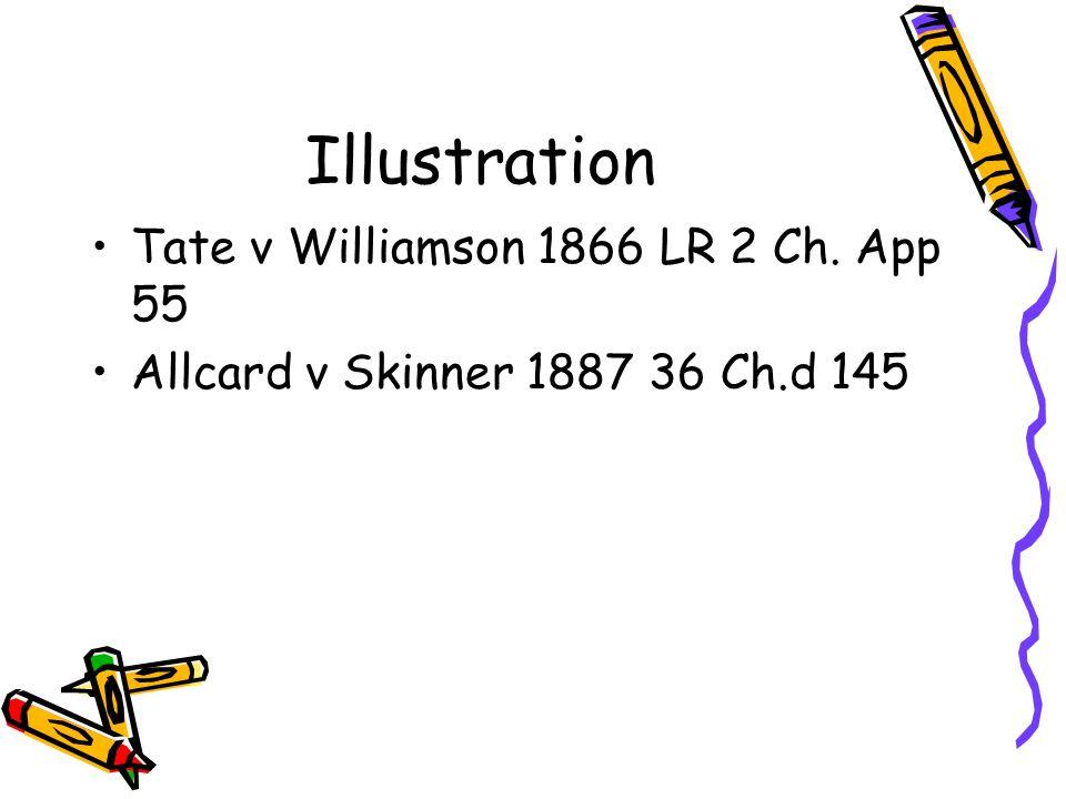 Illustration Tate v Williamson 1866 LR 2 Ch. App 55